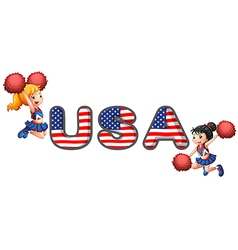 The USA cheering squad vector image