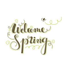 Welcome spring vector