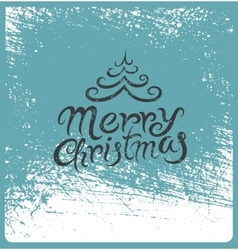 Calligraphic vintage Christmas card design vector image vector image