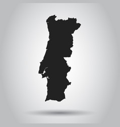 portugal map black icon on white background vector image