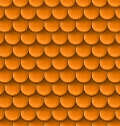 Roof tile background vector image