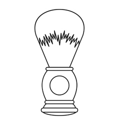 Shaving brush icon outline style vector image