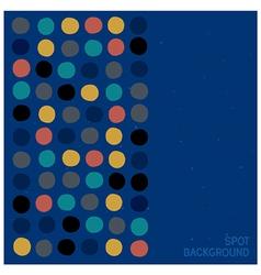 Spots pattern background vector image