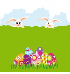 springtime easter holiday vector image
