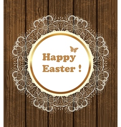 Vintage Easter background vector image vector image