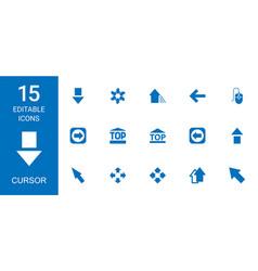 15 cursor icons vector