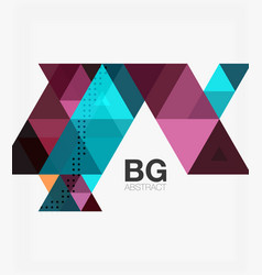 Abstract colorful triangle repetition vector