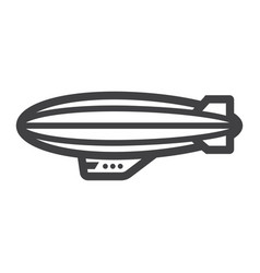 airship blimp line icon transport and air vector image