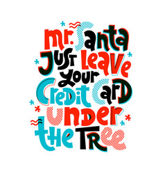 anti christmas lettering vector image