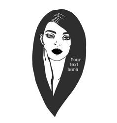 arab girl with long hair vector image
