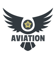 Aviation icon logo flat style vector
