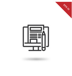 blogging icon vector image