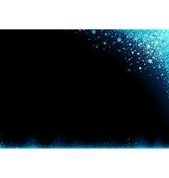 Blue Snow over Dark Background vector