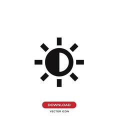 brightness icon vector image