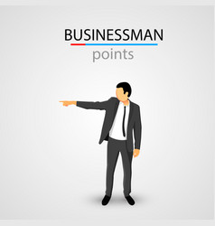 Businessman in jacket points vector