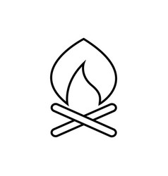 campfire adventure thin line icon design vector image