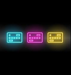 Card credit money neon icon vector