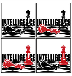 Chess game and concepts vector