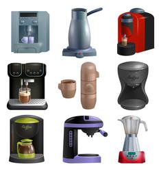 Coffee machine coffeemaker and coffee vector