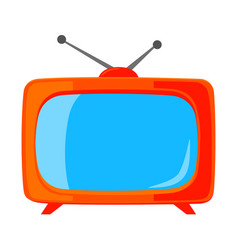 colorful cartoon vintage tv isolated on white vector image
