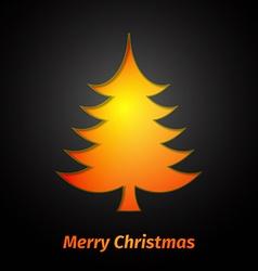 Creative paper Christmas tree vector