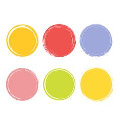 creative watercolor hand drawn element circle vector image