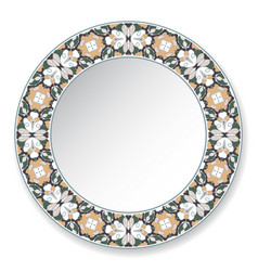 Decorative plate with circular pattern vector