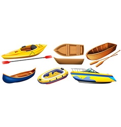 Different kind of boats vector image