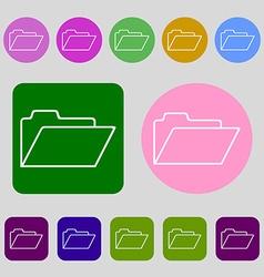Document folder sign Accounting binder symbol 12 vector