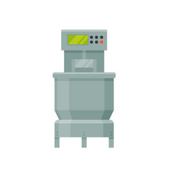 Dough mixing machine stage of bread production vector