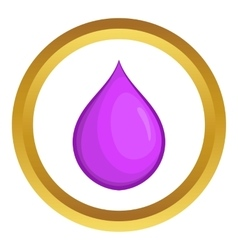 Drop oil icon vector