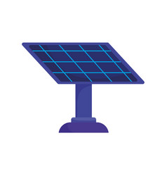 ecology solar panel alternative power icon vector image