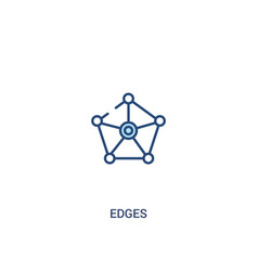 Edges concept 2 colored icon simple line element vector