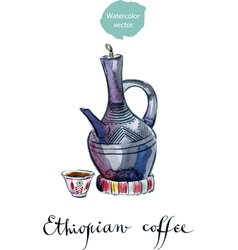 Ethiopian coffee vector