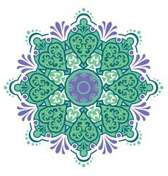 Ethnic eastern circular pattern vector