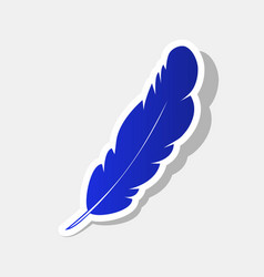 feather sign new year bluish vector image