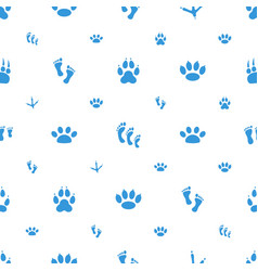 Footprint icons pattern seamless white background vector