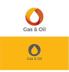 Gas and oil logo vector