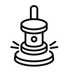 gavel icon outline style vector image