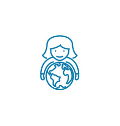 global perspectives linear icon concept global vector image