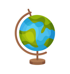Globe on a stand on a white vector