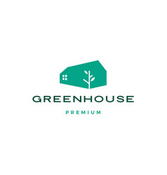 green house leaf roof logo icon vector image