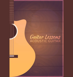 Guitar lessons school flat vector