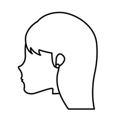 head young woman icon vector image