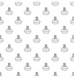 hot cupcake pattern seamless vector image