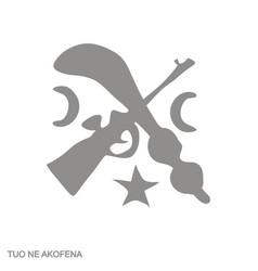 Icon with adinkra symbol tuo ne akofena vector