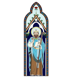 image of a clergyman vector image