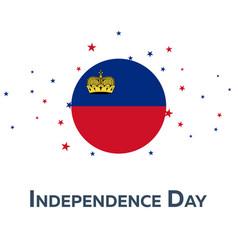 Independence day of liechtenstein patriotic vector