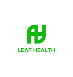 leaf health logo vector image