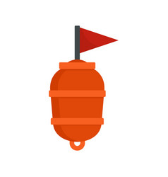 Limit swimming buoy icon flat style vector